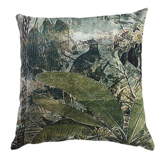 Cushion Fading Forest with Bird