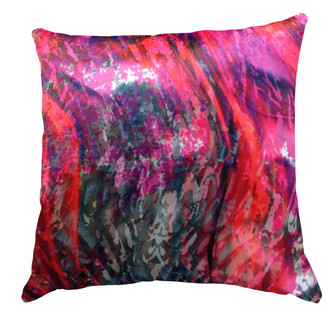 Velvet Cushion cover - Liquid Marble - Pink