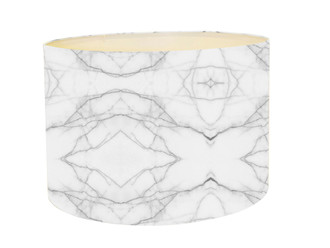 Lampshade - Marble grey and White