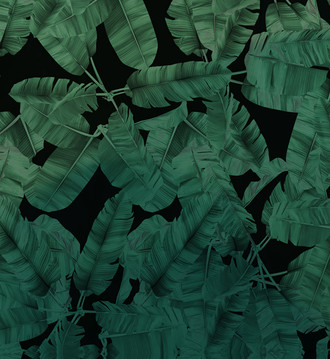 Fabric -Jungle Noir - Green