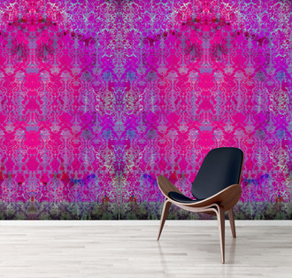 Wallpaper - Colour Crash Magenta Damask