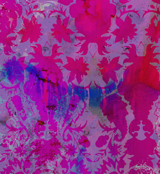 Fabric - Colour Crash Magenta Damask