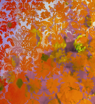 Fabric - Colour Crash Saffron Damask