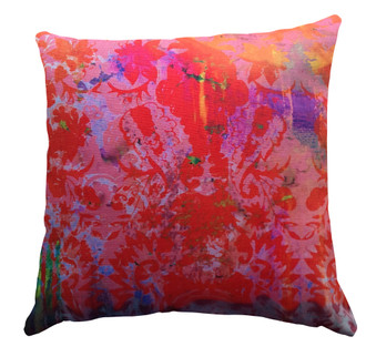 Cushion - Color Splash Saffron Damask