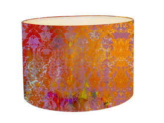 Lampshade - Colour Crash Saffron Damask