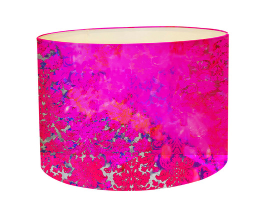 Lampshade colour crash fushia splash kerrie brown
