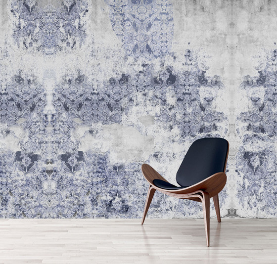 Wallpaper damaged goods in blue kerrie brown for Wallpaper home goods