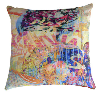 Velvet Cushion cover - Graffiti _ Yum Yum