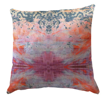 Velvet Cushion cover _ Damask in Distress - Tie Dye