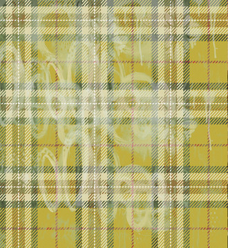 Tartan Fabric- Sludgy Yellow
