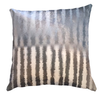 Velvet Cushion cover - Silver Stripe
