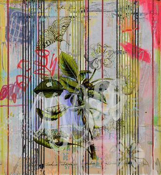 Wallpaper - Botanical Ticking - Floral