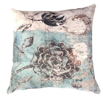 Velvet Cushion Cover - Botanical Graffiti
