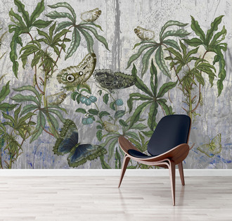 Wallpaper - Botanical Graffiti - Plein Air Dining