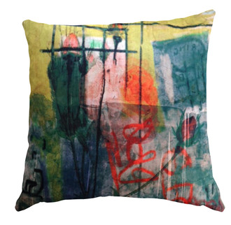 Velvet Cushion Cover - Graffiti Rose