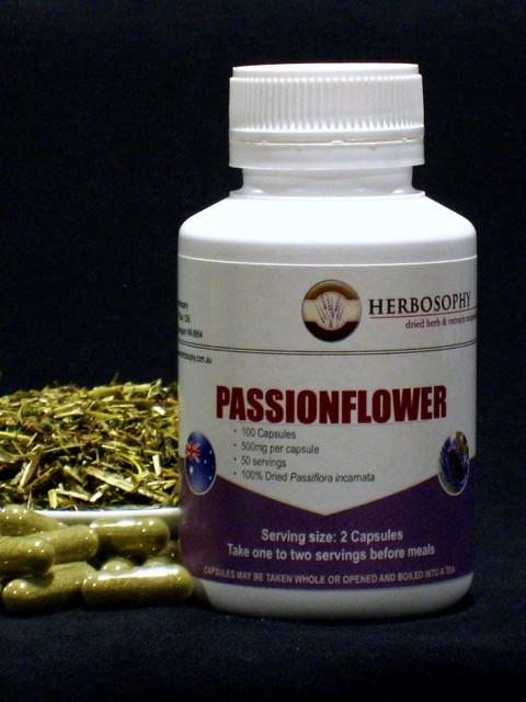 Passionflower Loose Herb, Powder or Capsules @ Herbosophy