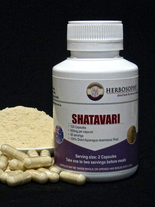 Shatavari Loose Powder or Capsules @ Herbosophy