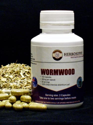 Wormwood Loose Herb, Powder or Capsules @ Herbosophy