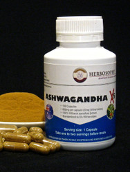 Ashwagandha X5 (5% Withanolides) Loose Powder or Capsules @ Herbosophy