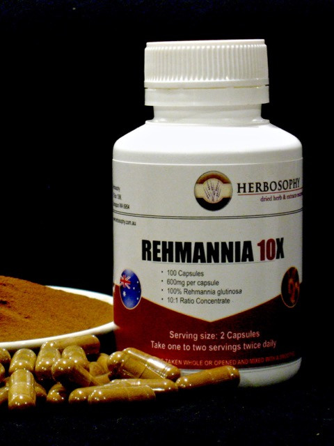 Rehmannia 10X Extract in Loose Powder or Capsules @ Herbosophy