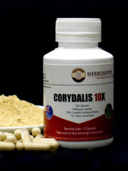 Corydalis 10:1 Ratio Extract Powder & Capsules @ Herbosophy
