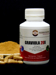 Graviola 20:1 Loose Powder & Capsules @ Herbosophy