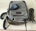 Green Satchel Bag for Leixen Back Pack Radio and other Portables