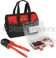Powerwerx PowerpoleBag, the best Powerpole crimping tool and assorted Powerpole case in a custom nylon gear bag