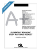 Elementary Academic Study Materials Booklet for grades 2-6