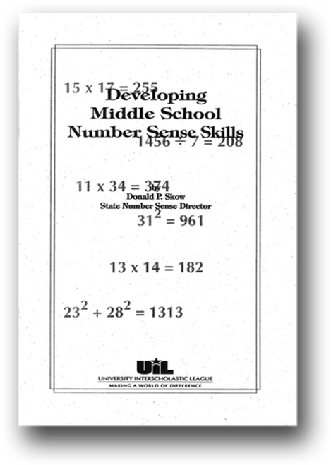 Developing Middle School Number Sense Skills