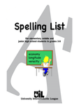 Spelling Word List for Grades 3-8 (1 Dozen Copies)