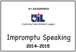 A+ Impromptu Speaking Prompts from 2014-15