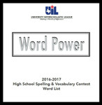 Word Power Spelling & Vocabulary 2016-2017