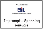 A+ Impromptu Speaking Prompts from 2015-16