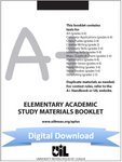 Elementary Academic Study Materials Booklet (for grades 2-6)
