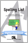 Spelling Word List (Grades 3-8)