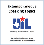 Extemporaneous Speaking topics
