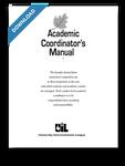 Academic Coordinator's Manual 2015-2016