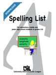 Spelling Word List for Grades 3-8