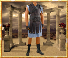 Gladiator Maximus Leather Strip Coat Costume