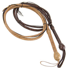Our Tan and Mahogany Bull Whips. Made using genuine cowhide that looks and even feels like kangaroo hide!
