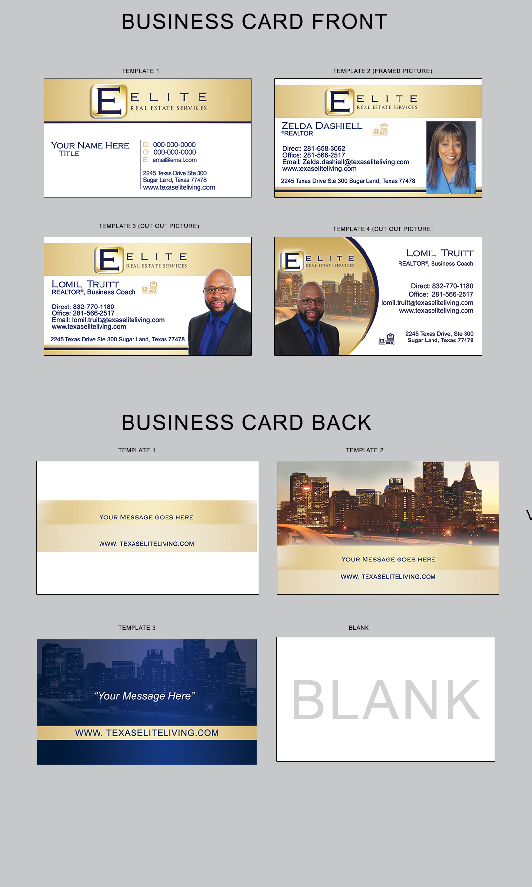 Elite business cards champions printing product description reheart Image collections