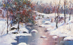 "Giclee prints of ""Winter River"""