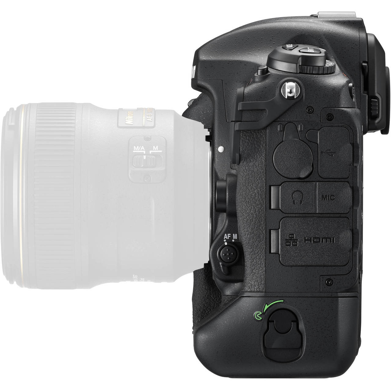 Nikon D5 Body with Dual CF Slots Left Side