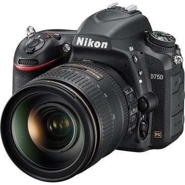 Nikon D750 DSLR FX Camera w/ 24-120mm f/4G ED VR AF-S Lens