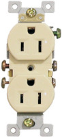 Standard Duplex Receptacle 15Amp Ivory