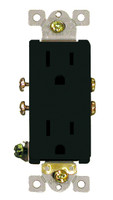 Decorative Duplex Receptacle 15Amp Black