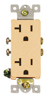 Decorative Commercial Receptacle 20Amp Ivory