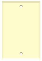 Blank Wall Plate 1-Gang Almond