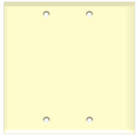 Blank Wall Plate 2-Gang Almond